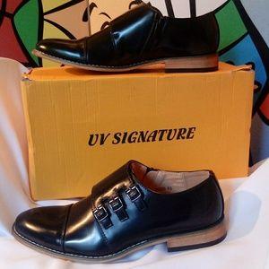 Signature Tripple Monkstrap Cap Toe Dress Shoes
